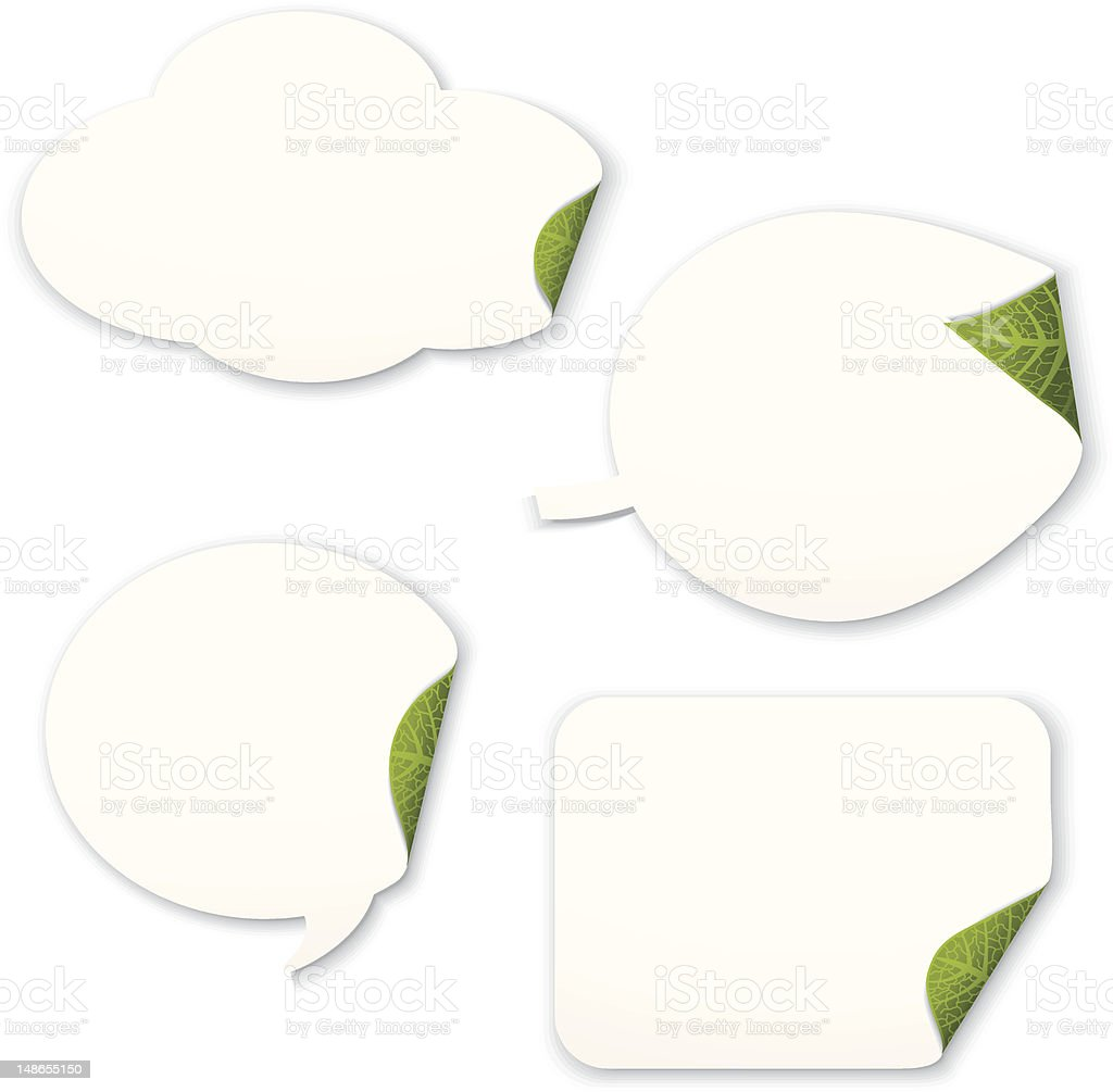 Go Green Labels - Matte royalty-free stock vector art