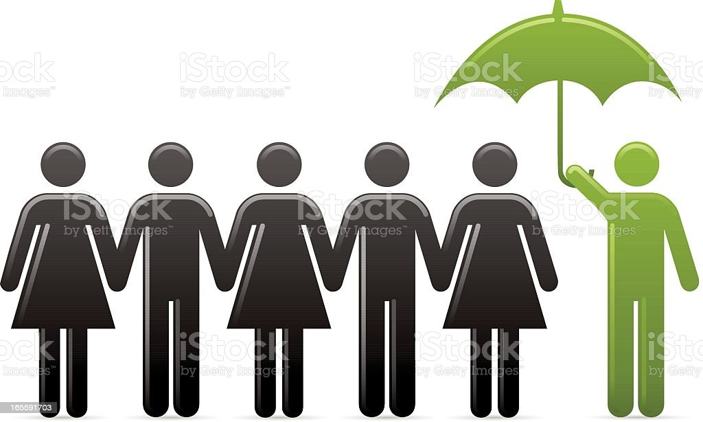 Go Green – Protection royalty-free stock vector art