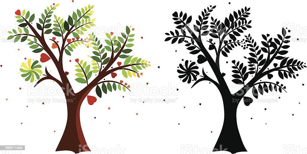 go green tree royalty-free stock vector art