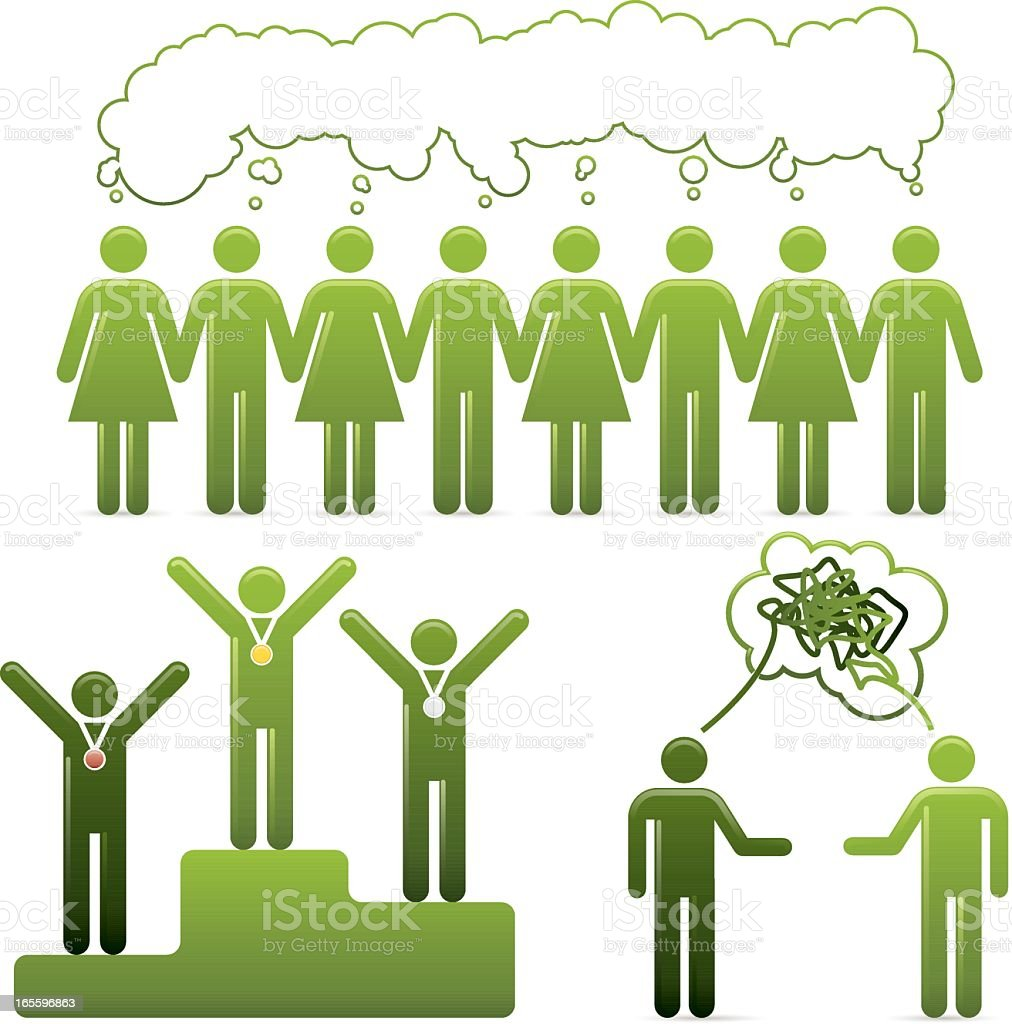 Go Green – Universal Man Concepts royalty-free stock vector art