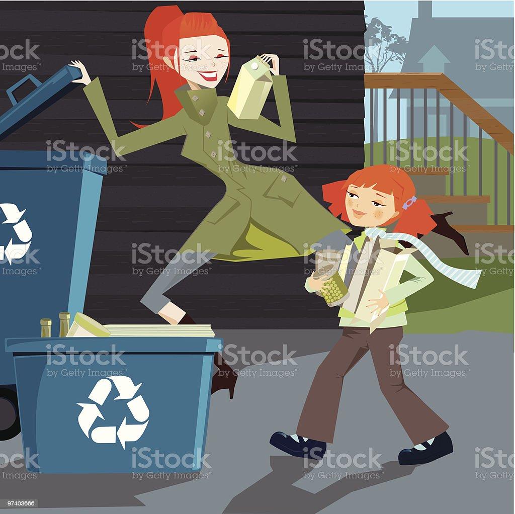 Go Green: Urban Recycle royalty-free stock vector art