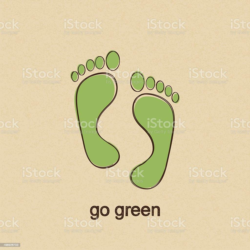 Go Green vector art illustration