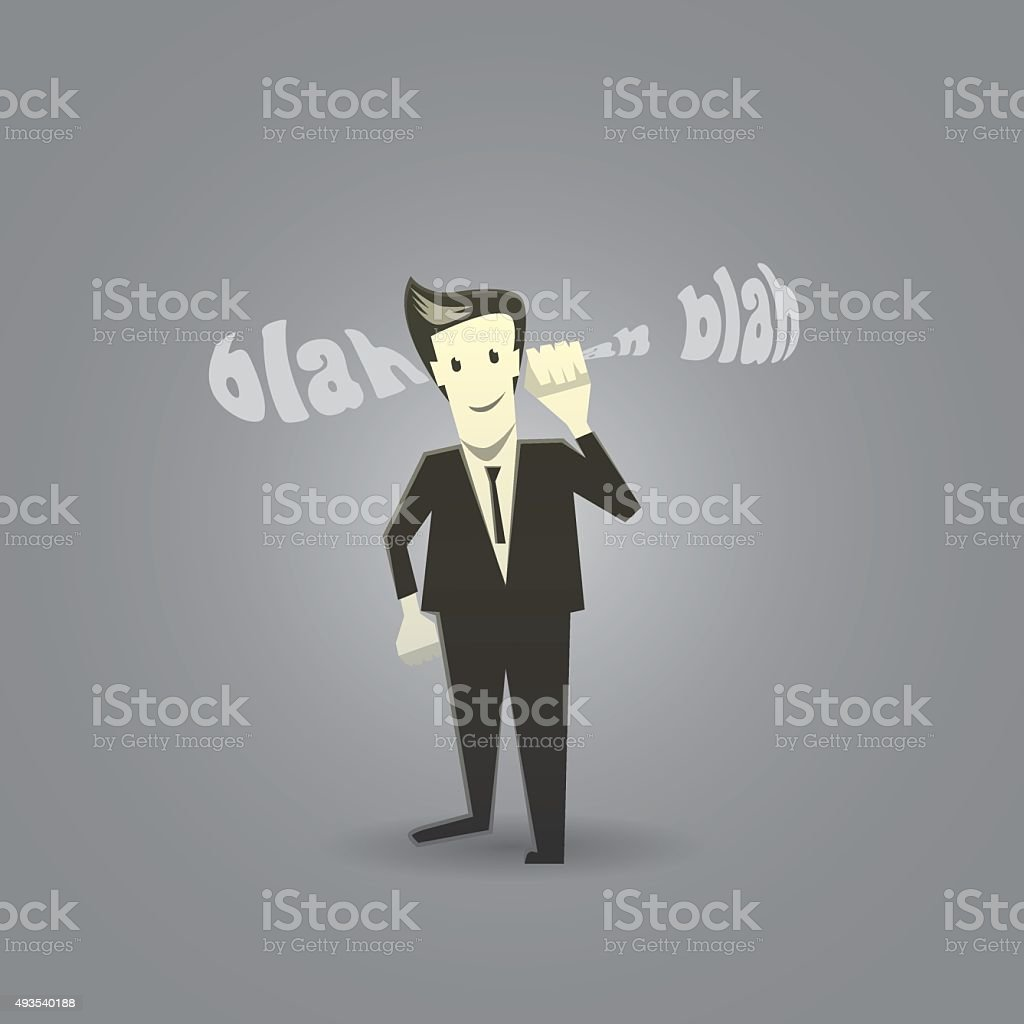 Go in one ear and out the other vector art illustration