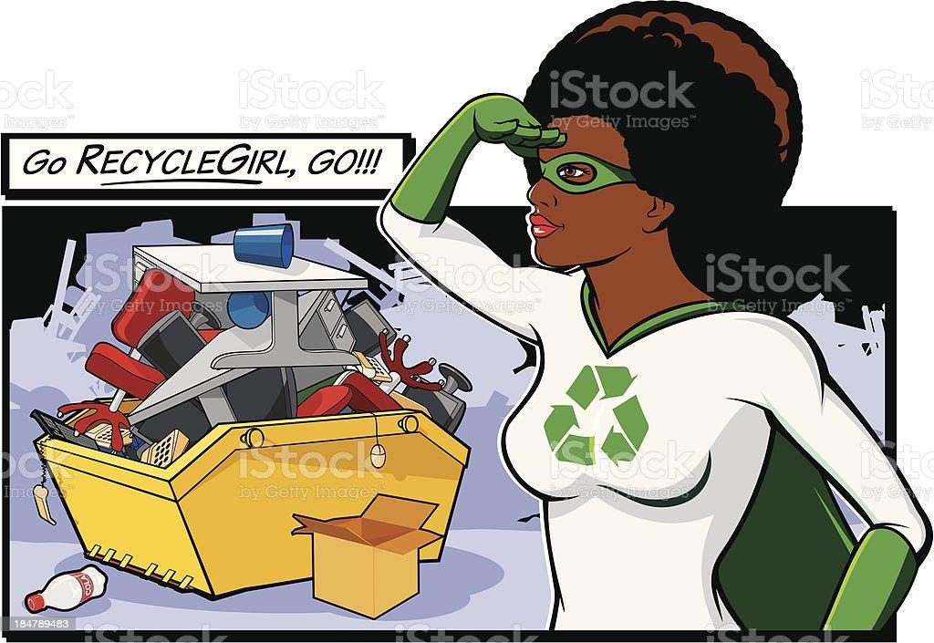 Go RecycleGirl! royalty-free stock vector art