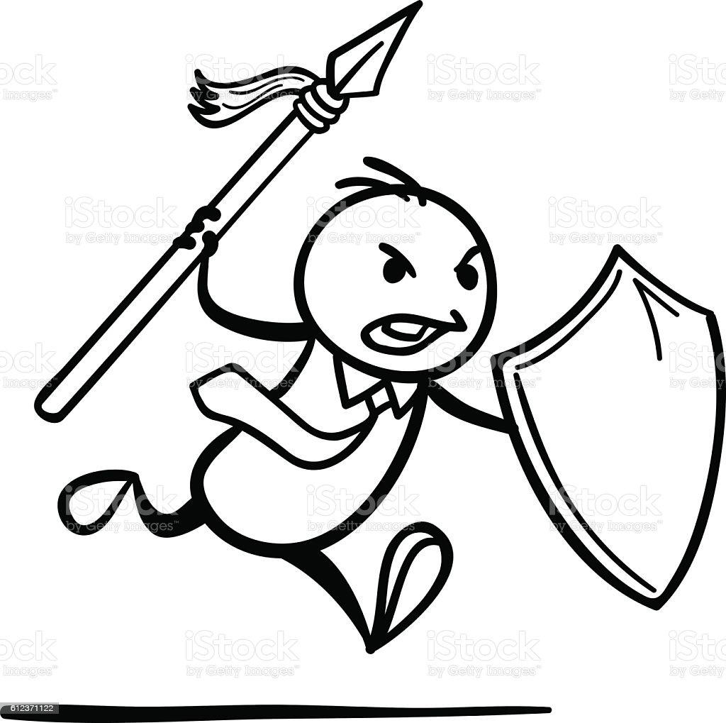 Go to Fight vector art illustration