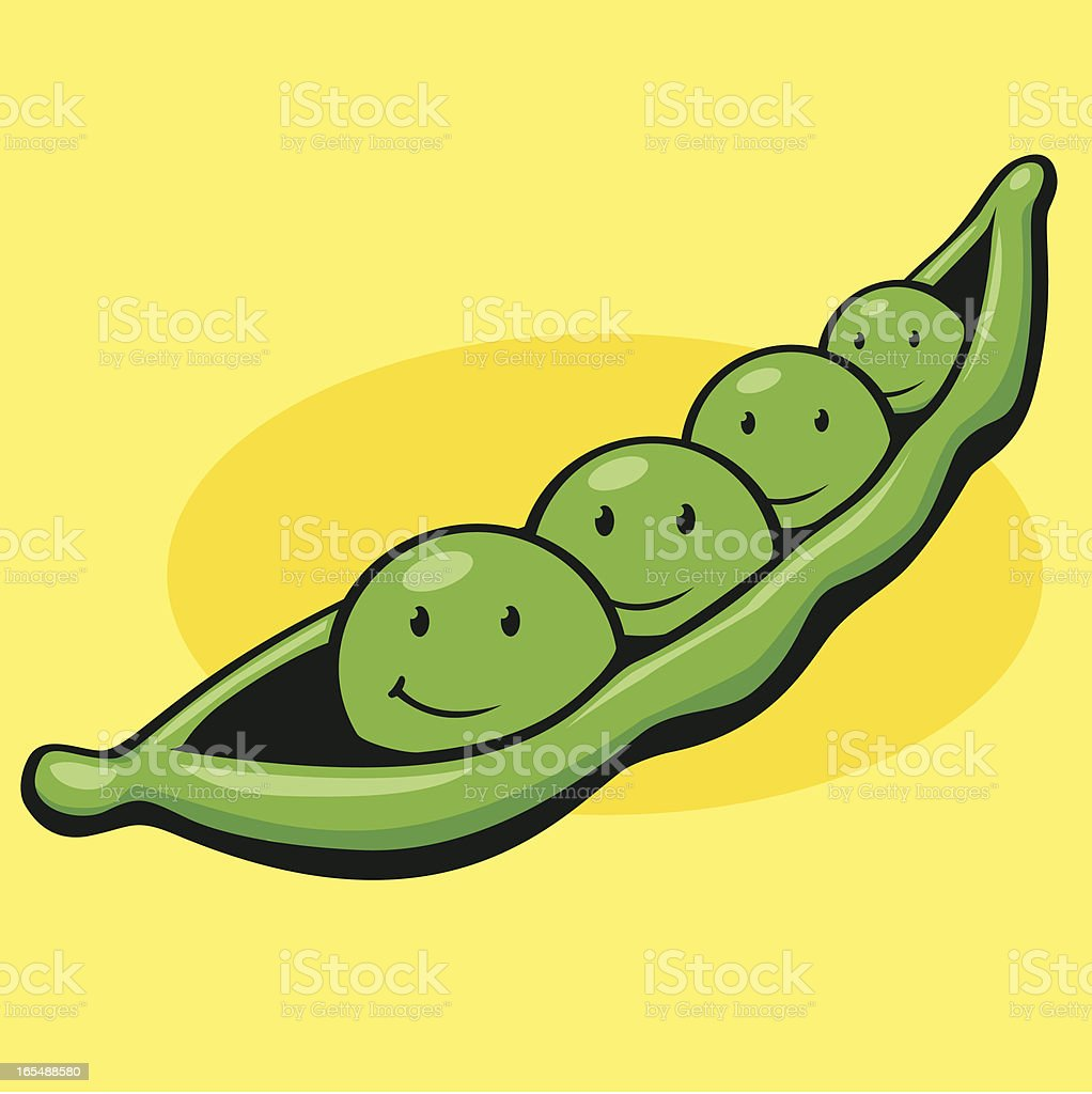 Go together like Peas in a pod royalty-free stock vector art