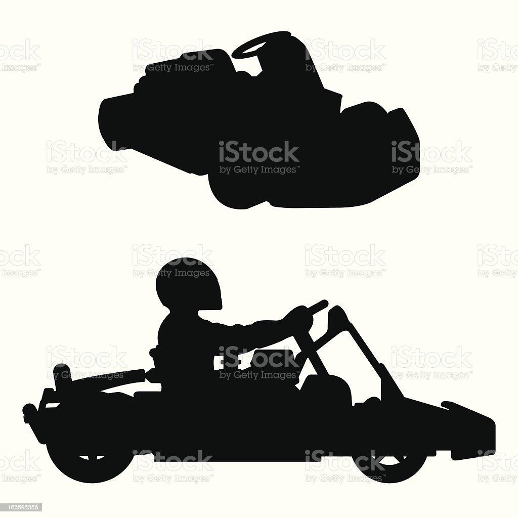 go_cart vector art illustration