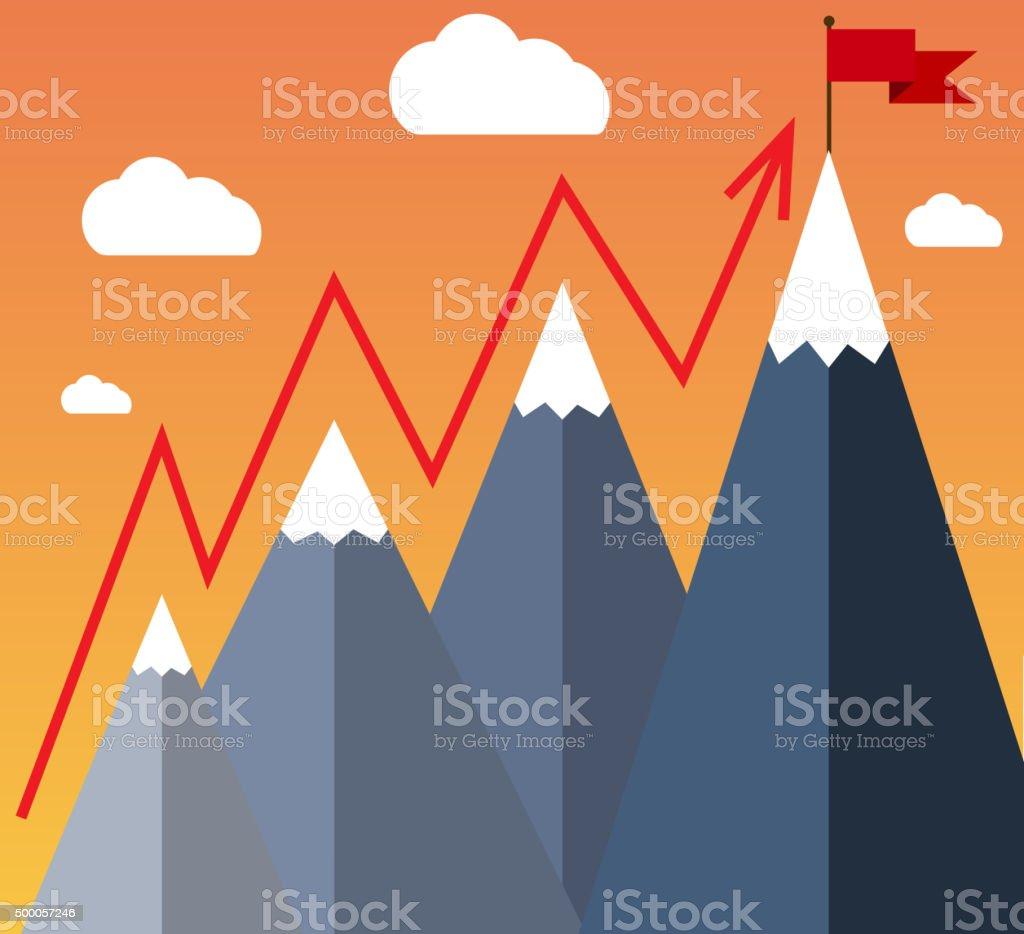 Goal Achievement or Success Concept. vector art illustration
