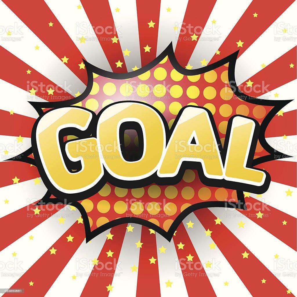 Goal, Comic Speech Bubble. Vector illustration. vector art illustration