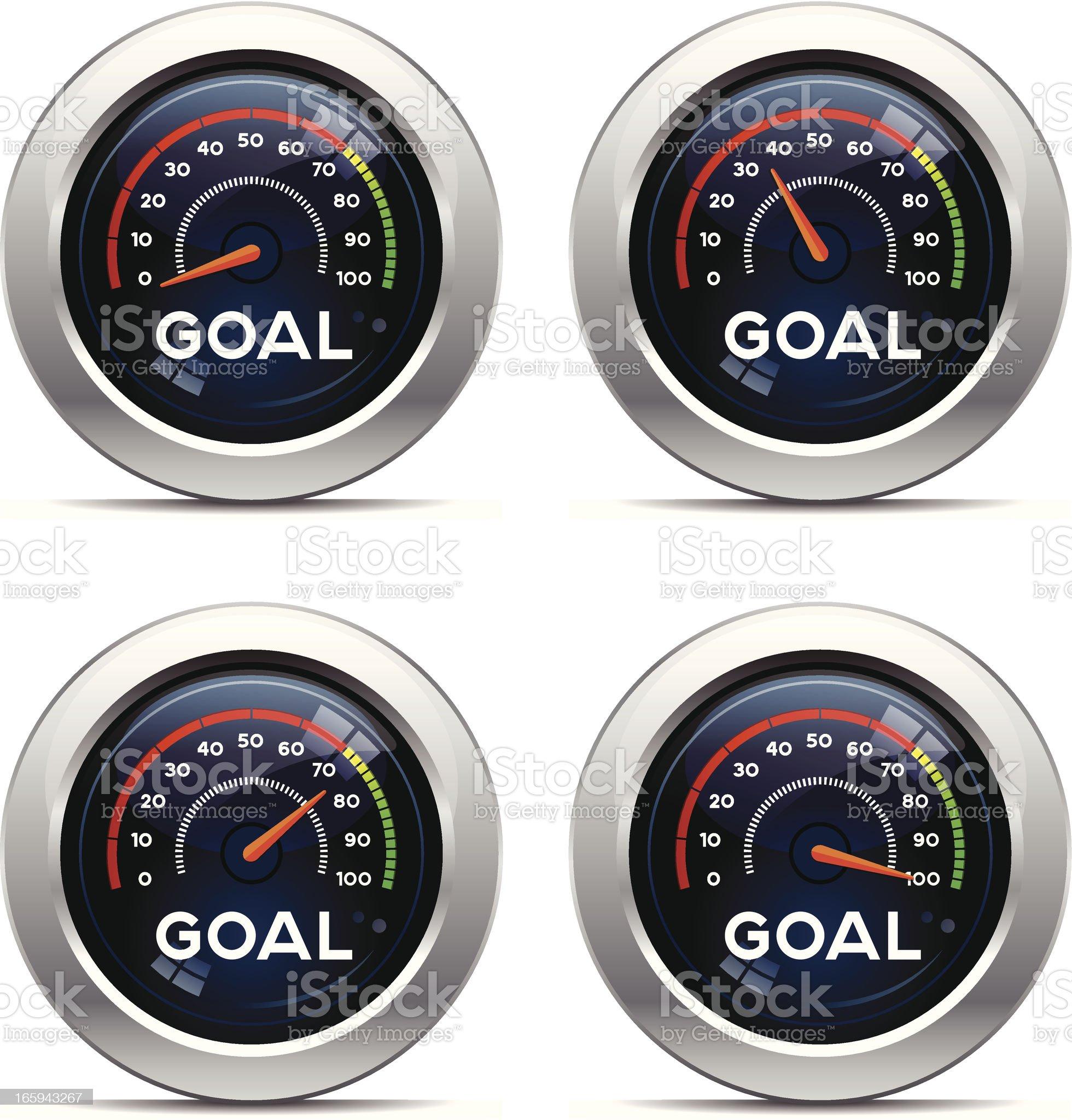 Goal Dashboard royalty-free stock vector art