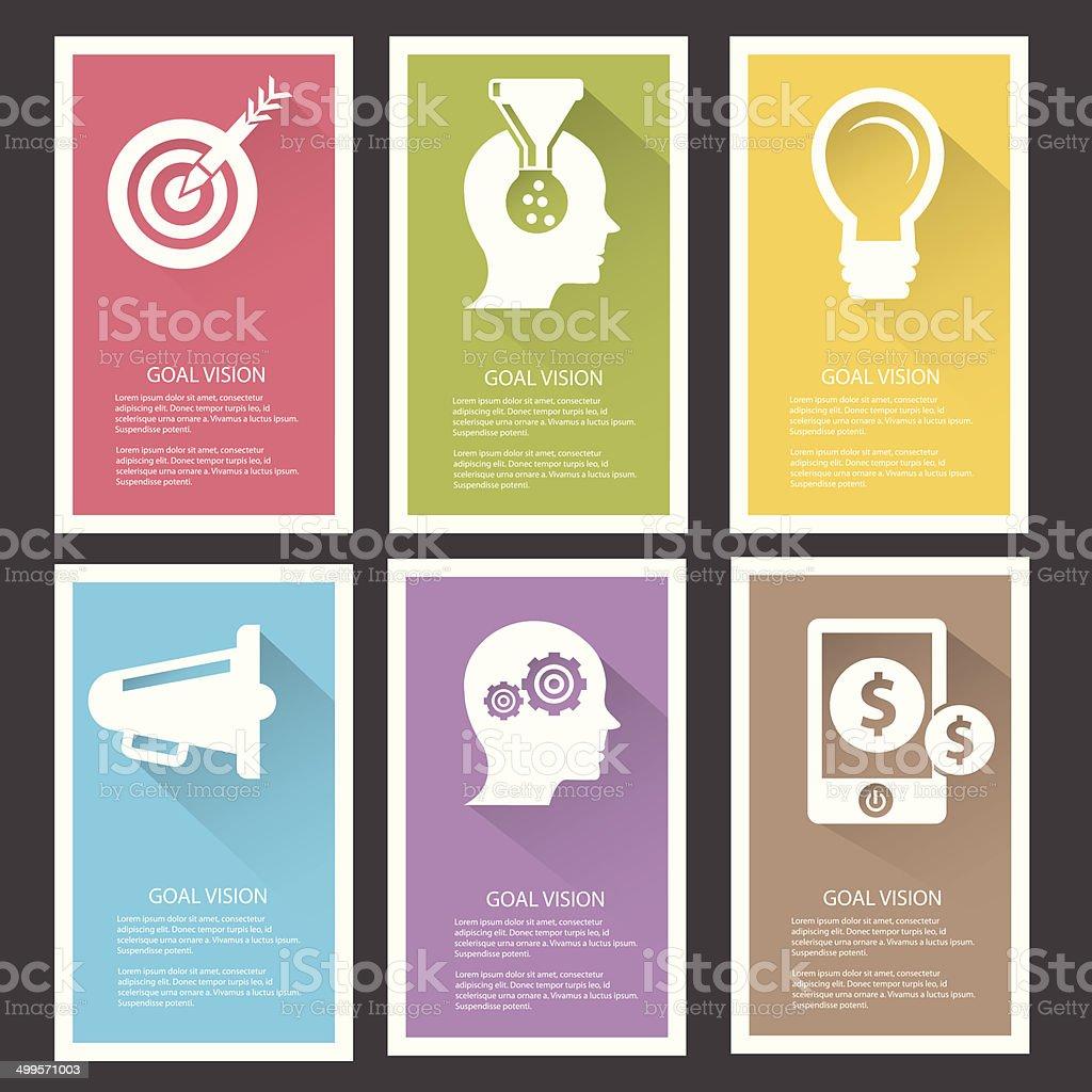 Goal management Banners,Colorful version,vector vector art illustration