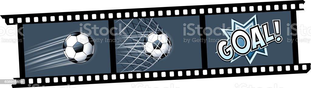 goal photo vector art illustration
