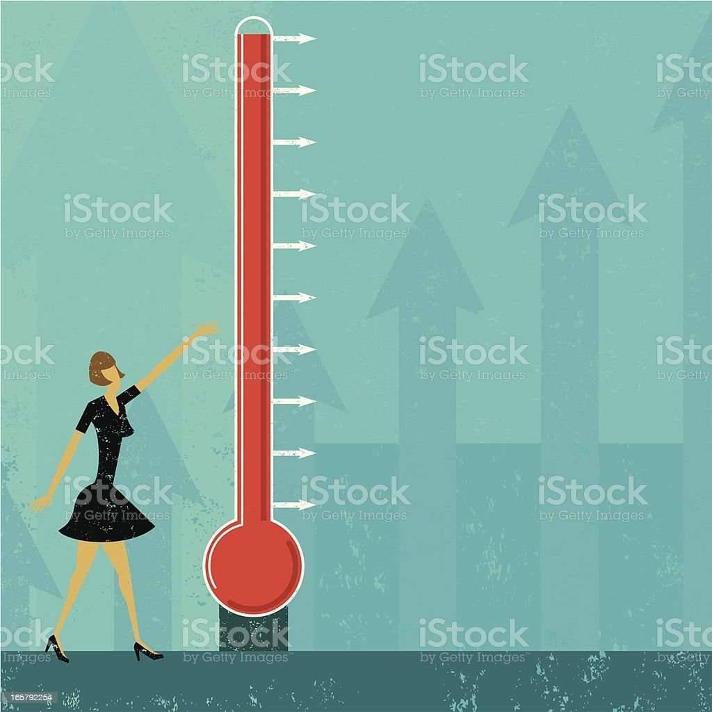 Goal Thermometer royalty-free stock vector art