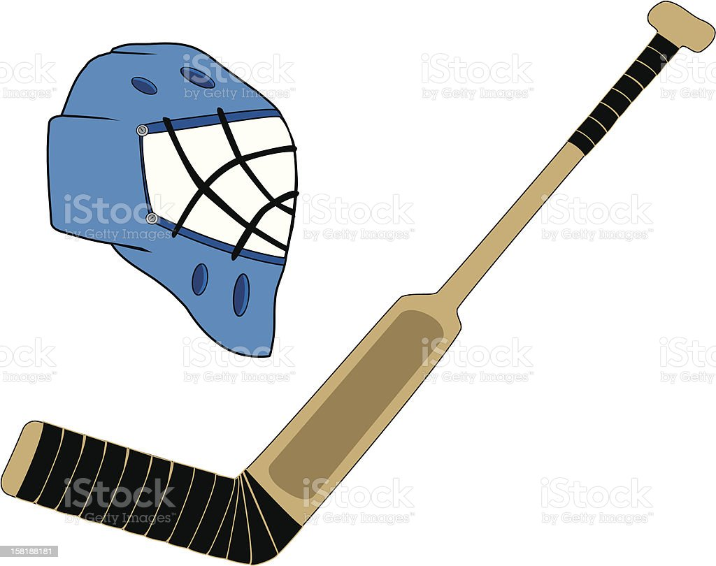 Goalie Gear vector royalty-free stock vector art