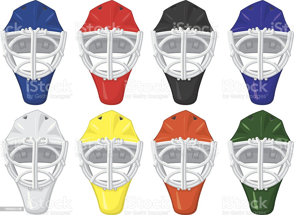 goalie masks royalty-free stock vector art