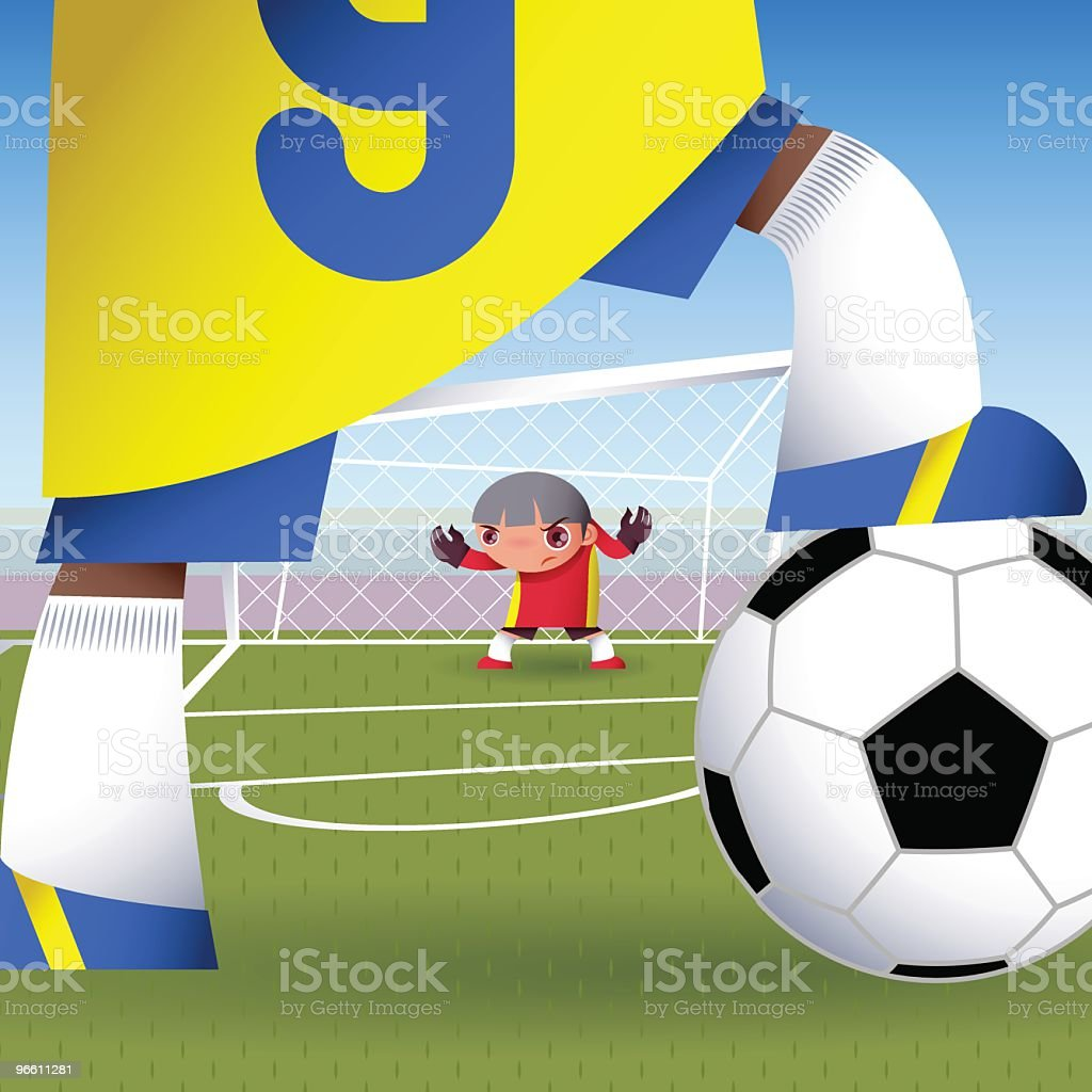 goalie (football/soccer) vector art illustration