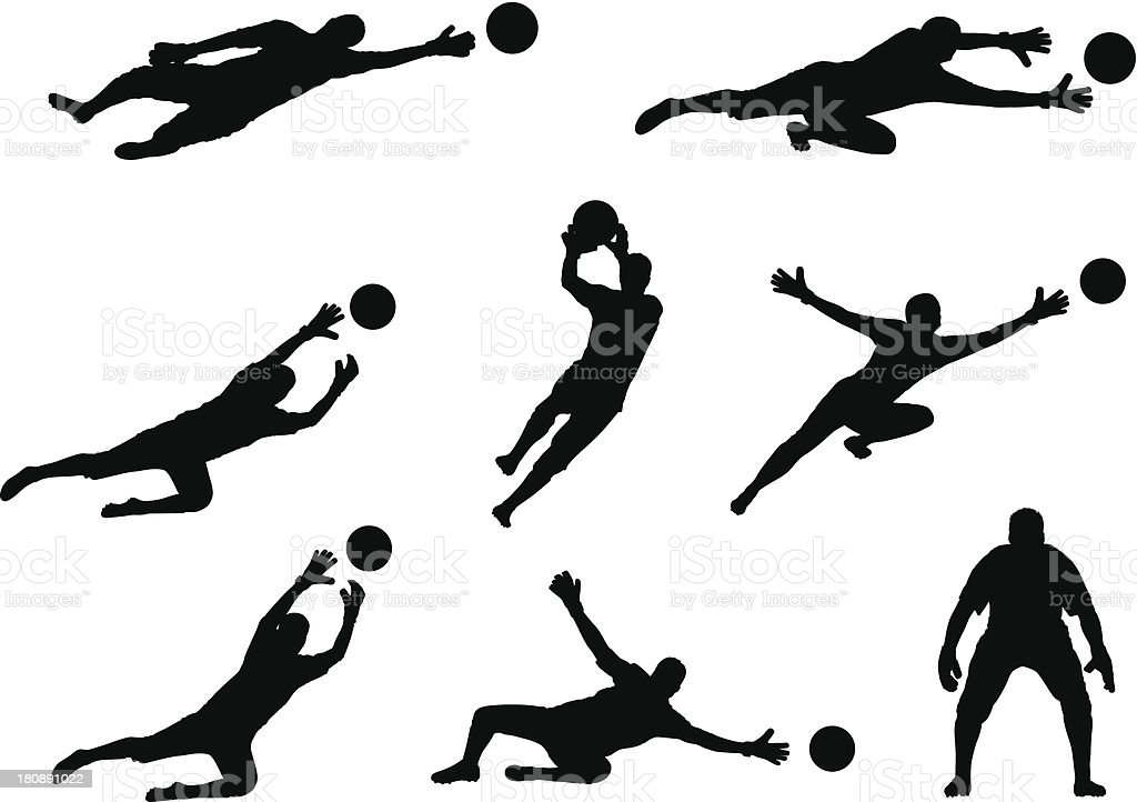 goalkeeper royalty-free stock vector art