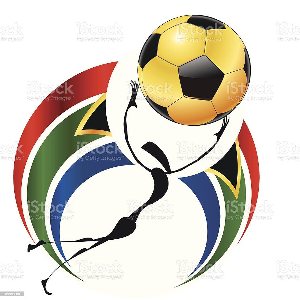 Goalkeeper WM 2010 vector art illustration