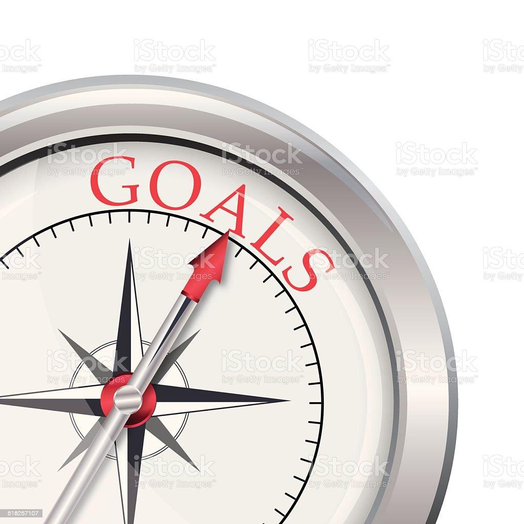 Goals compass direction vector art illustration