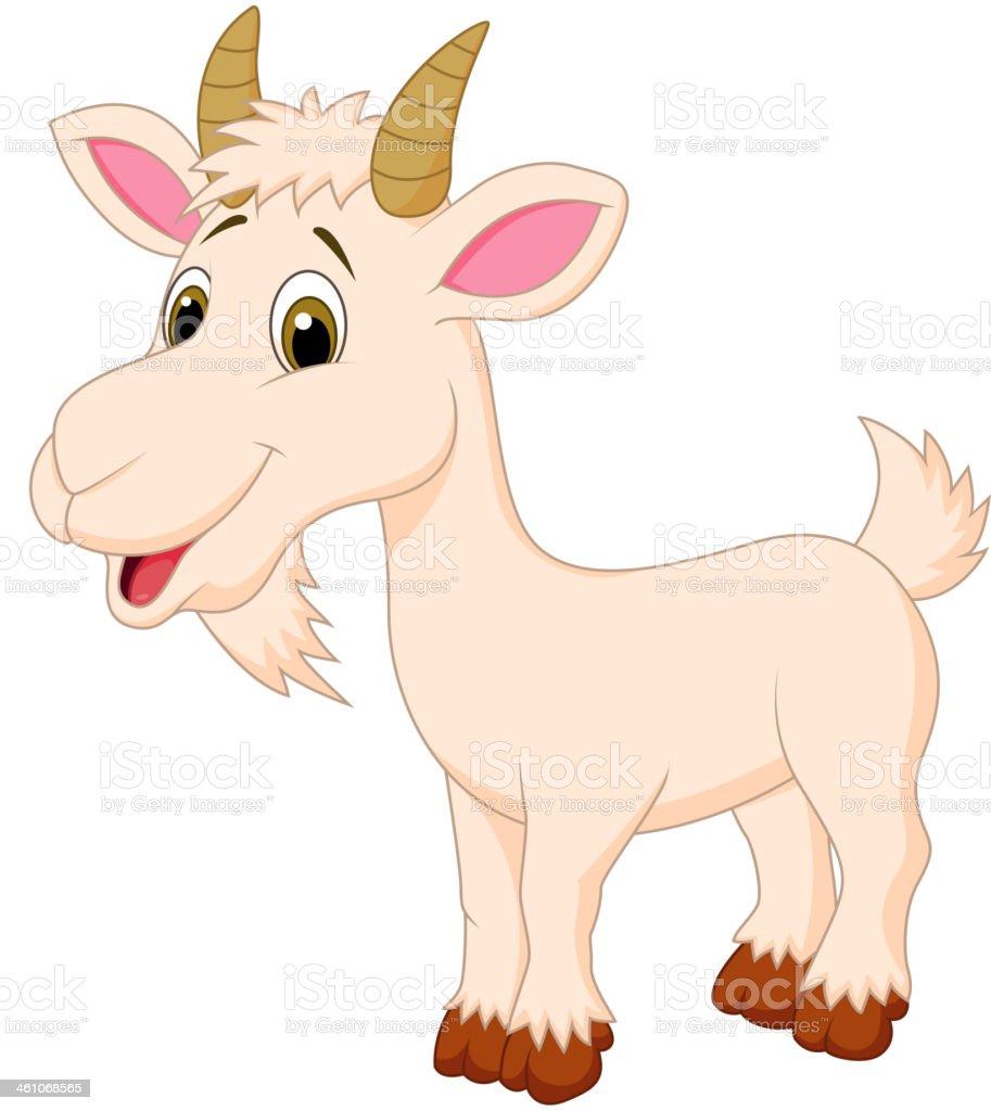 Goat cartoon character vector art illustration