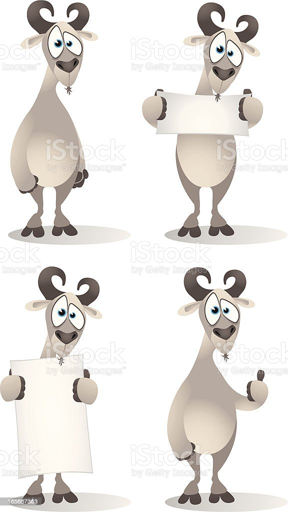 Goat Collection royalty-free stock vector art