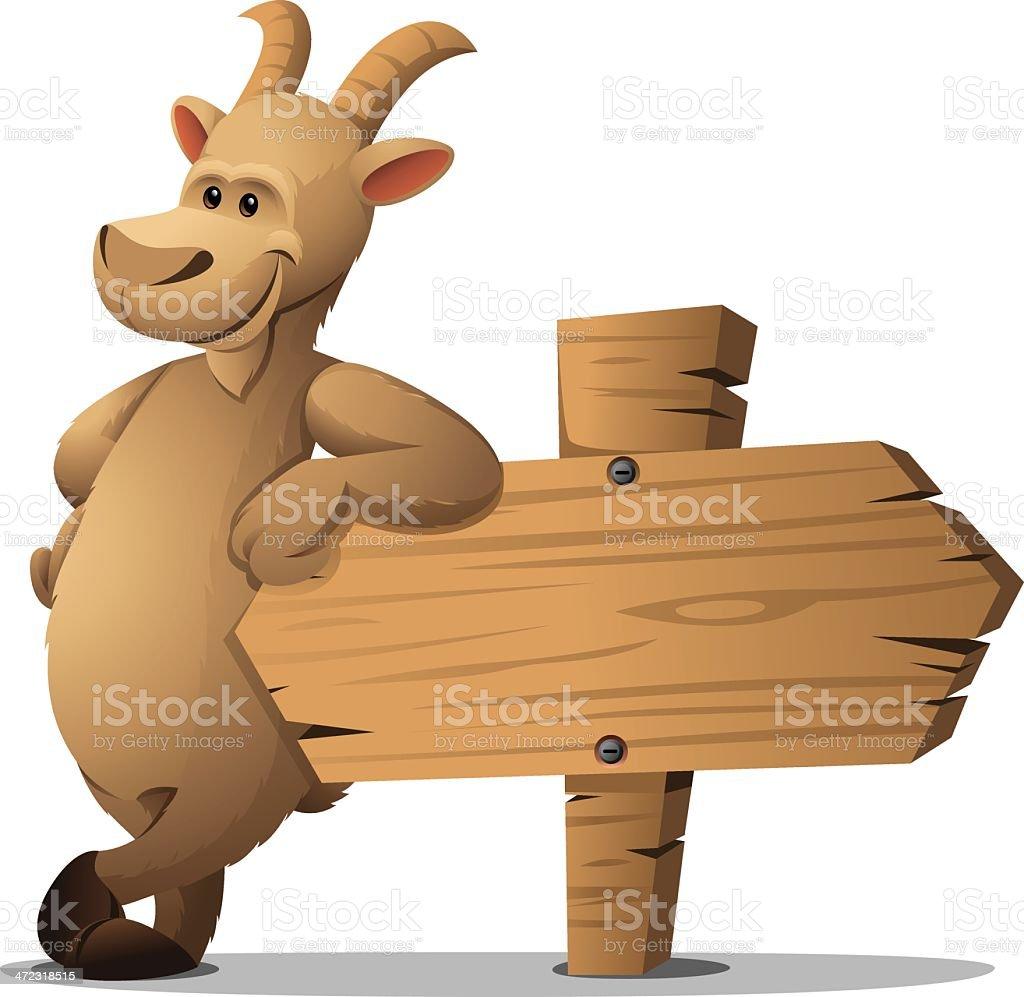 Goat: Leaning vector art illustration