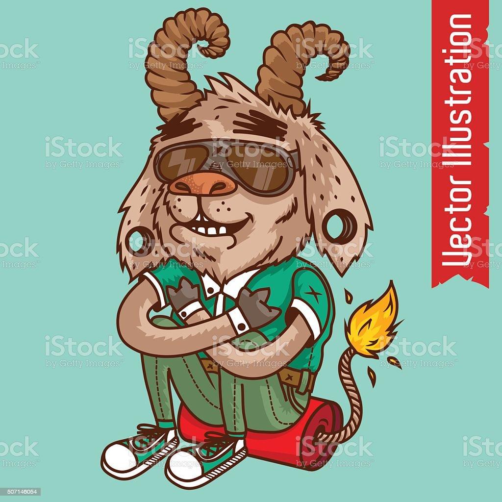 Goat teenager. Vector illustration vector art illustration