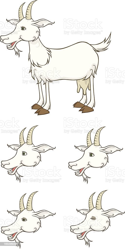 Goat vector art illustration