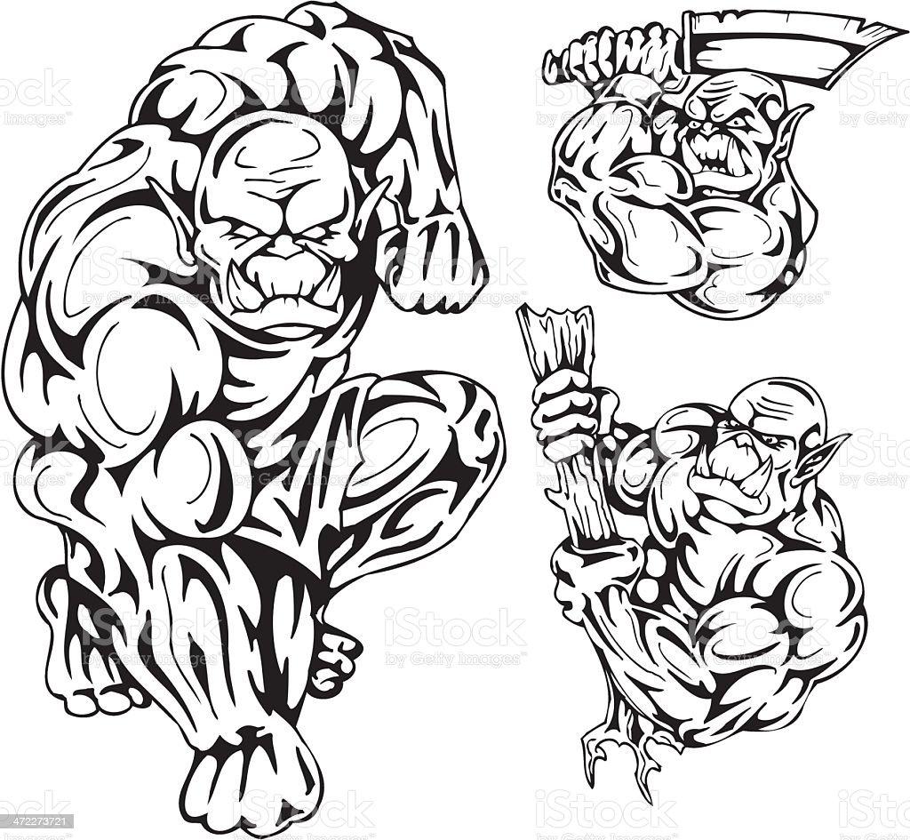 Goblins royalty-free stock vector art