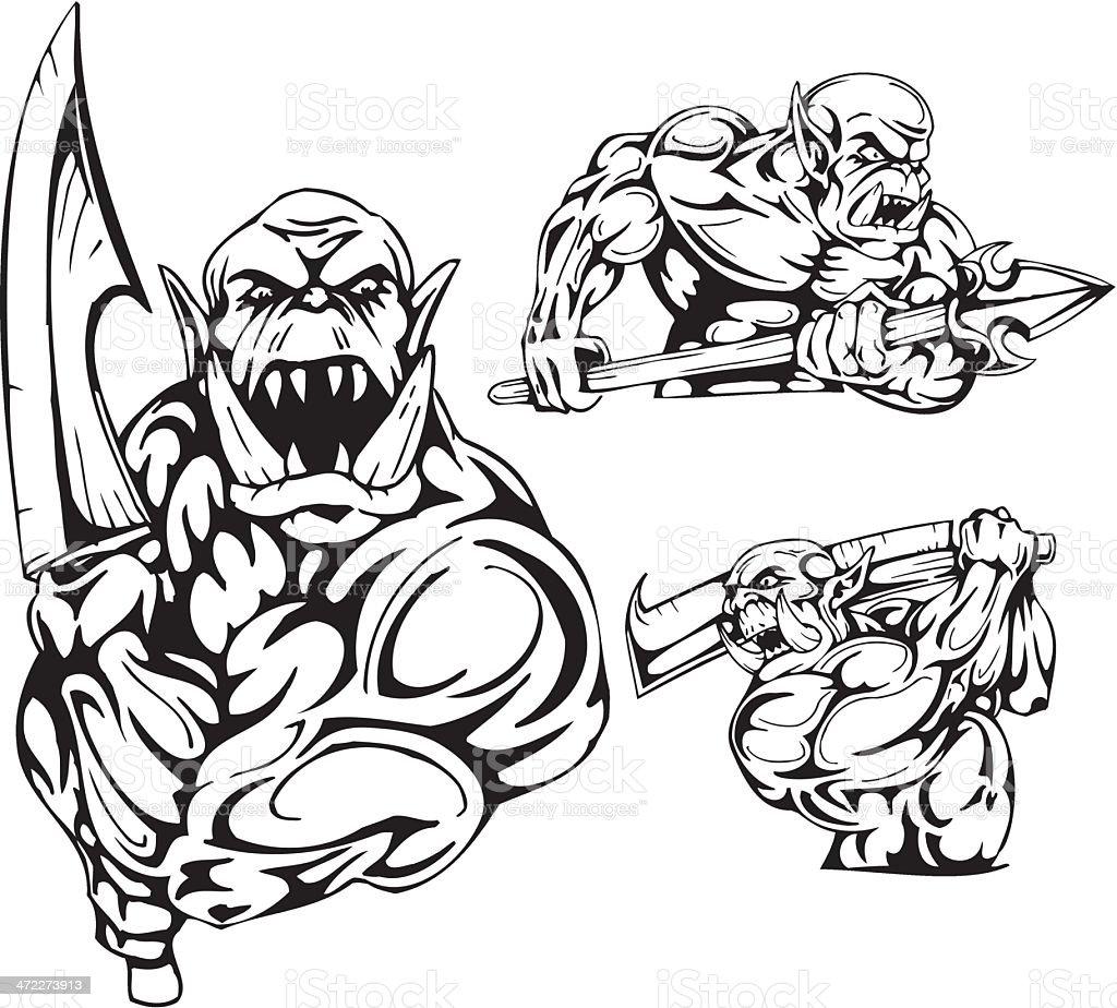 Goblins. royalty-free stock vector art