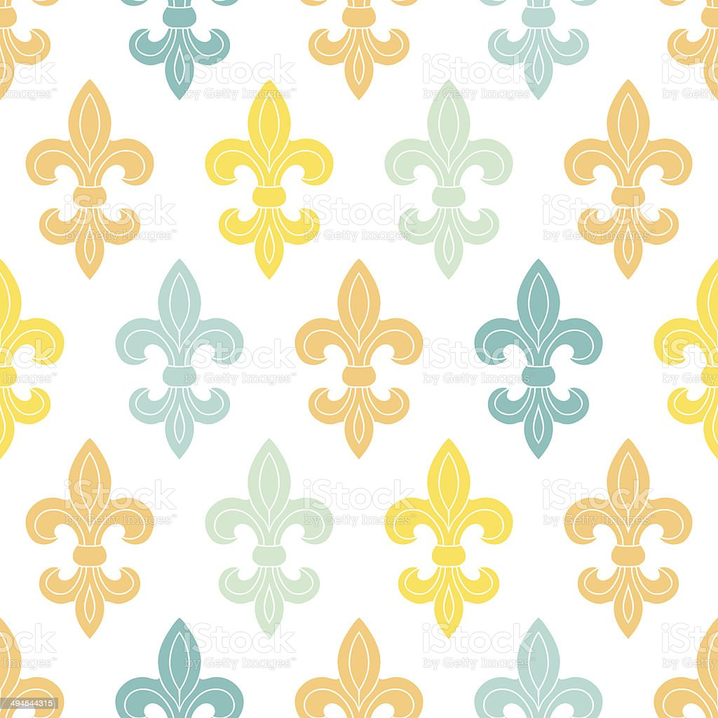 God and blue lily seamless pattern background royalty-free stock vector art