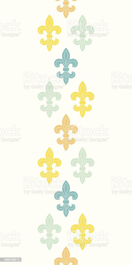 God and blue lily vertical seamless pattern background royalty-free stock vector art