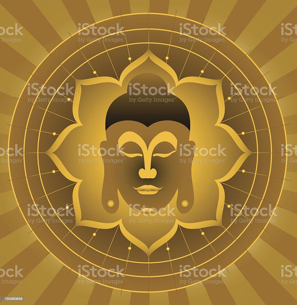 God Buddha. royalty-free stock vector art
