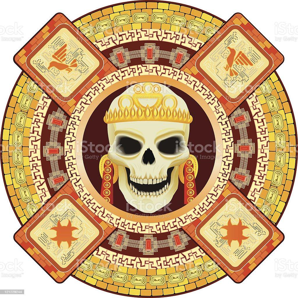 god  death of Aztecs royalty-free stock vector art