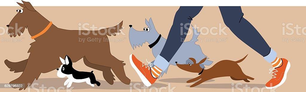 God walker banner vector art illustration