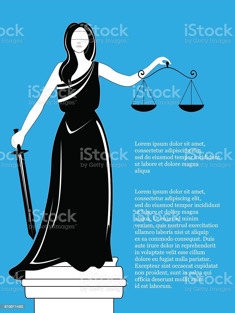 Goddess of justice Themis. Femida vector. vector art illustration