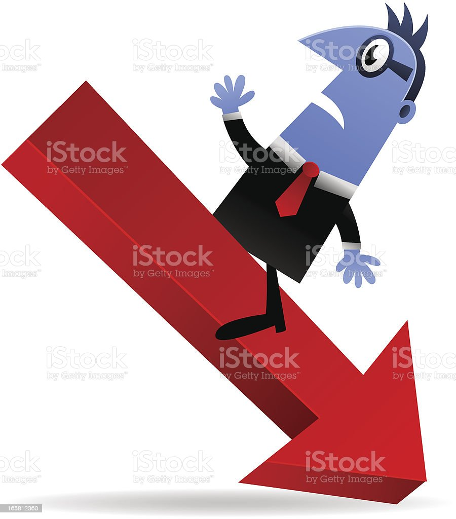Going Down royalty-free stock vector art