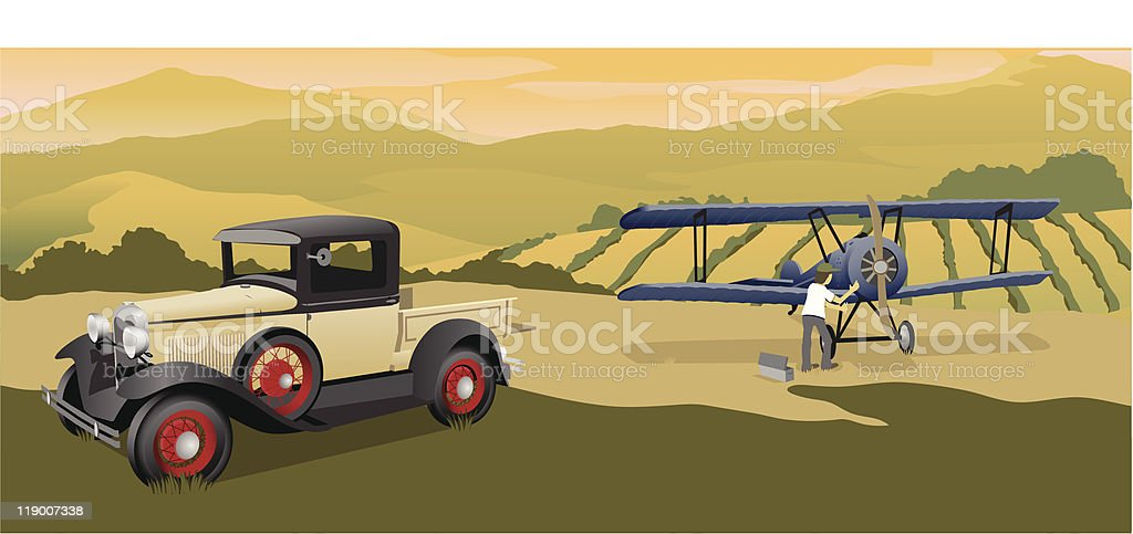 Going Flying royalty-free stock vector art