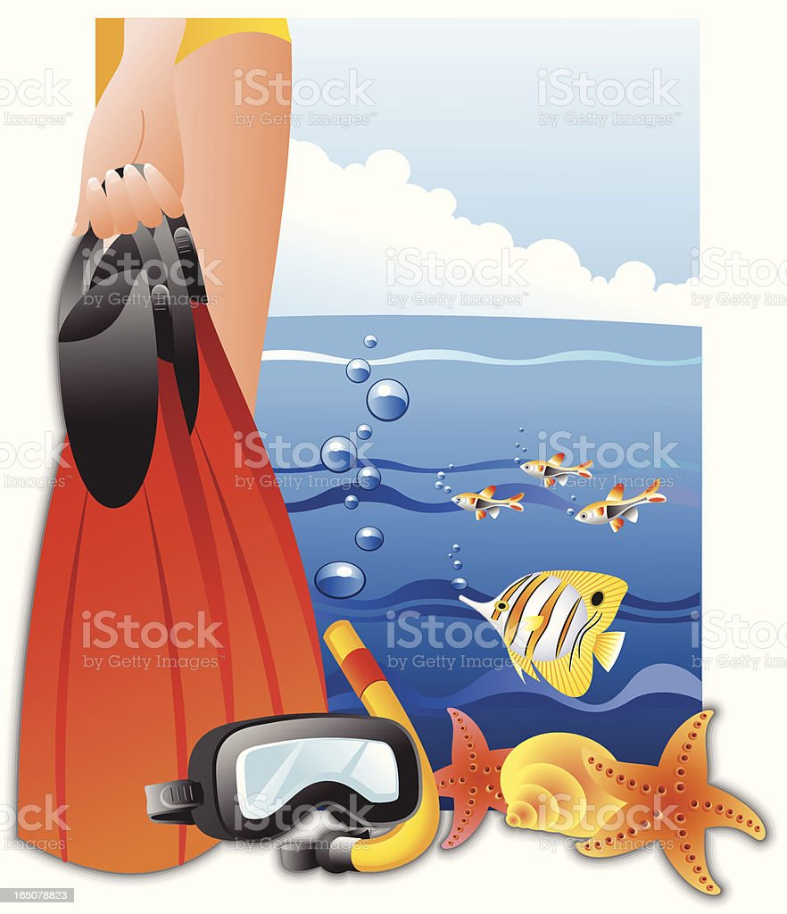 Going for a dive royalty-free stock vector art