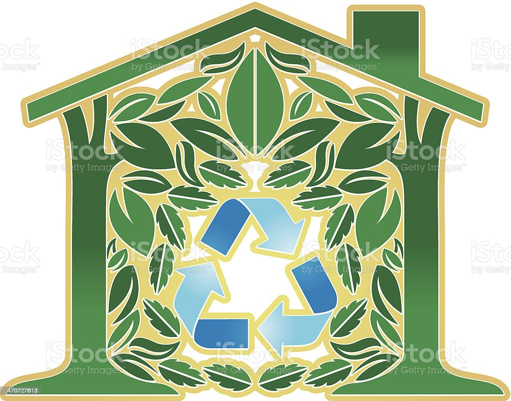Going Green House C royalty-free stock vector art