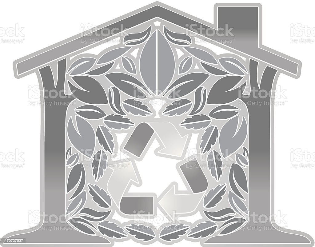 Going Green House royalty-free stock vector art