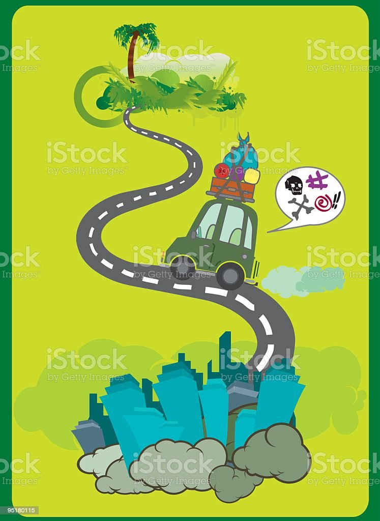 going to the jungle royalty-free stock vector art