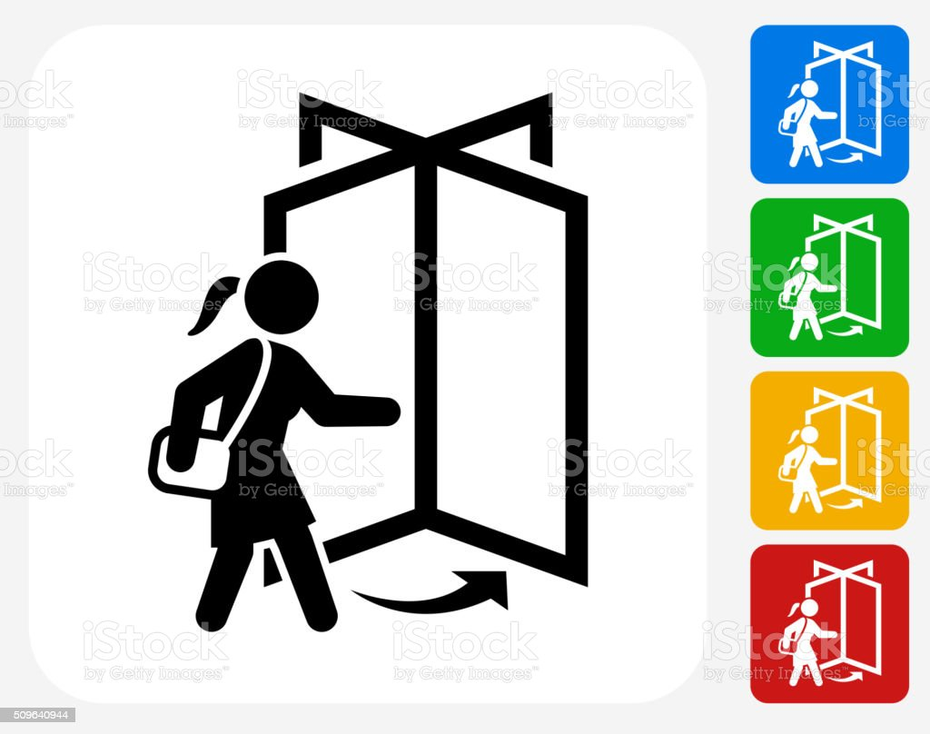 Going to Work Icon Flat Graphic Design vector art illustration