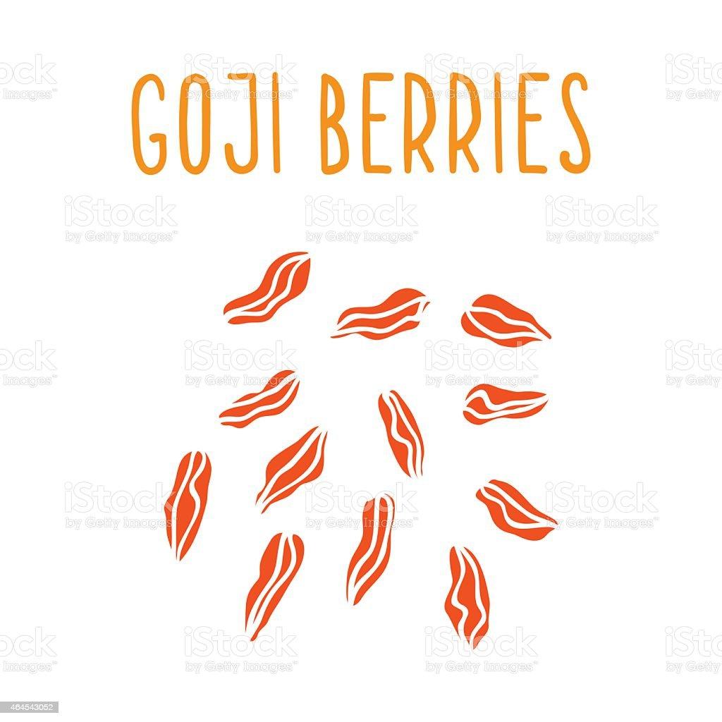 Goji berries vector art illustration