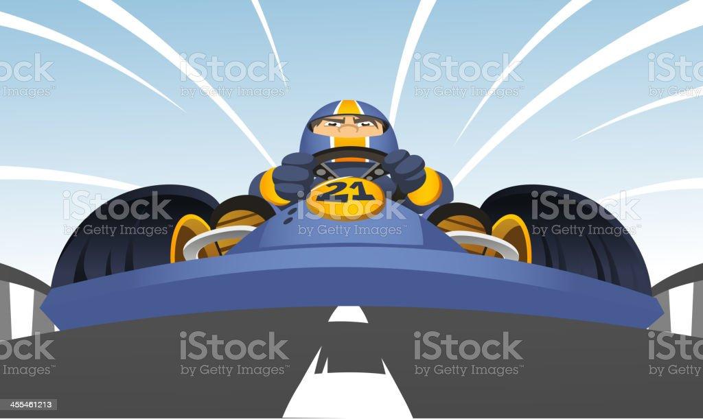 Go-Kart perspective vector art illustration
