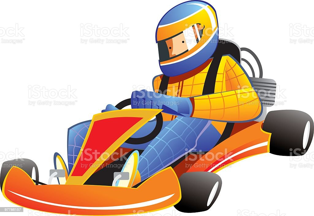 Go-Kart Racing royalty-free stock vector art