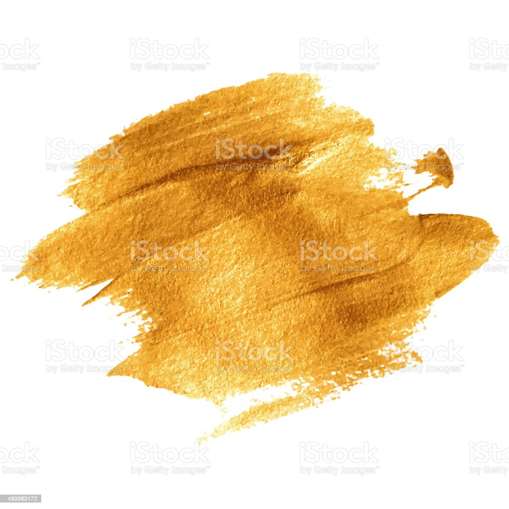 Gold acrylic paint. Vector illustration vector art illustration
