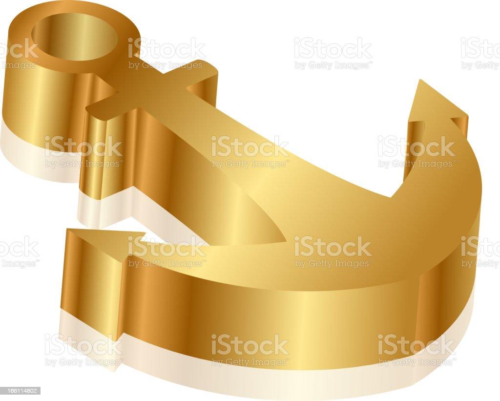 gold anchor royalty-free stock vector art