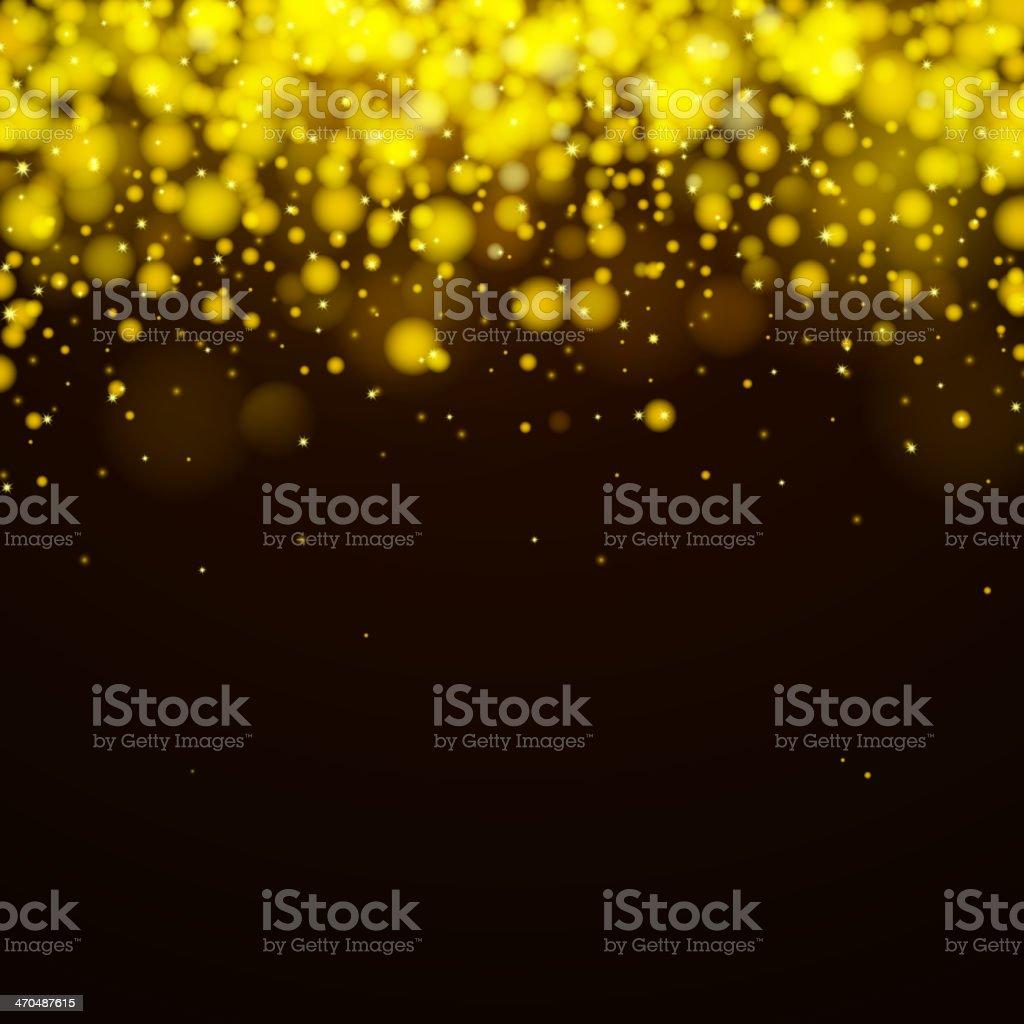Gold and black vector background vector art illustration