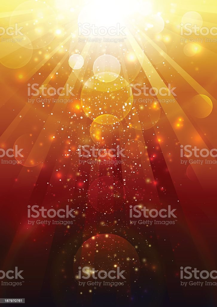 Gold and red lights mixed together royalty-free stock vector art